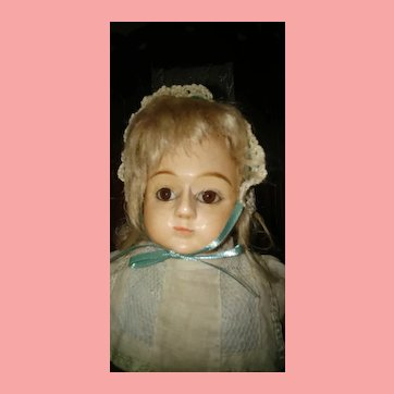 French market  wooden head doll
