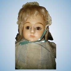 French papier mache wooden head doll