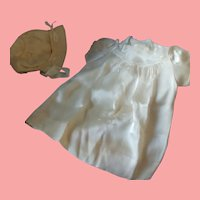 French Antique Baby Dress and Bonnet set