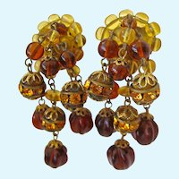 Fabulous Vintage Dangle Earrings West Germany Screw Back