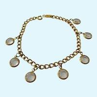 Swarovski Clear Crystal Dangle Bracelet Swan Signed