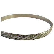 Danecraft Felch Co Sterling Silver 925 Bangle Bracelet