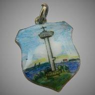 835 Silver Dutch Rotterdam Euromast Shield Charm