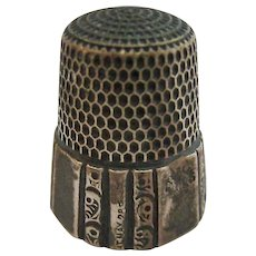 Antique Simons Bros Sterling Silver 925 Thimble Size 11 Patent 1889