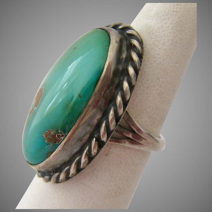 9990c539cc101 Sterling Silver 925 Green Turquoise Ring