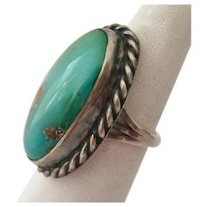 Sterling Silver 925 Green Turquoise Ring