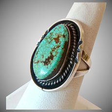 Sterling Silver 925 Turquoise Southwest Ring Large Chunky