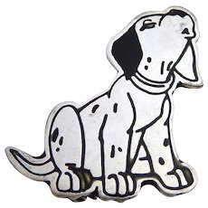 Sterling Silver 925 Disney Dalmatian Dog Pin Brooch