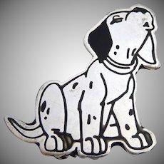 Sterling Silver 925 Disney Dalmatian Dog Pin Brooch
