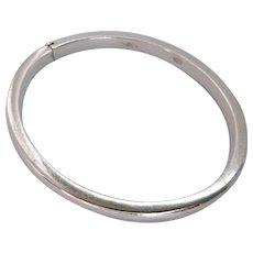 Sterling Silver 925 Hinged Bangle Bracelet