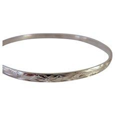 Sterling Silver 925 Bangle Bracelet