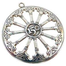 Sterling Silver 925 Smithsonian 150th Anniversary Medallion Pendant 1996