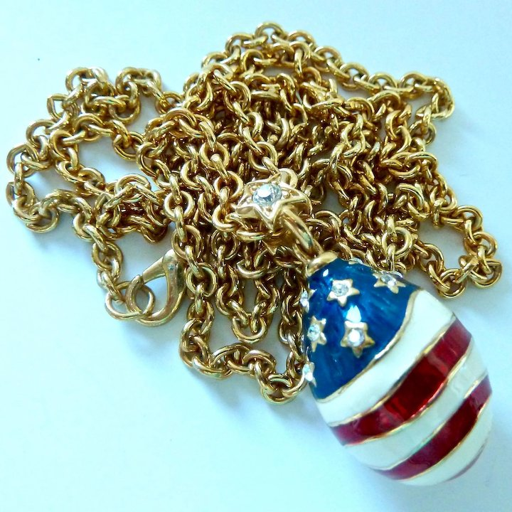 Joan rivers american flag egg pendant necklace patriotic joan rivers american flag egg pendant necklace patriotic aloadofball Choice Image