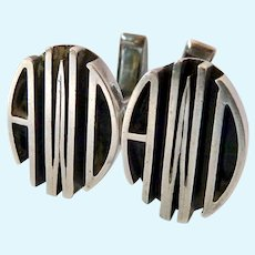 Sterling Silver 925 Initial Cuff Links Signed Camana