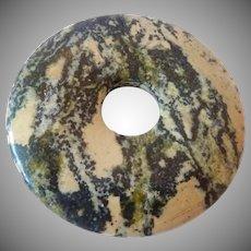 Large Stone Disk Pendant