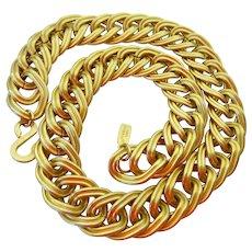 KJL Kenneth Jay Lane Large Link Gold Tone Necklace
