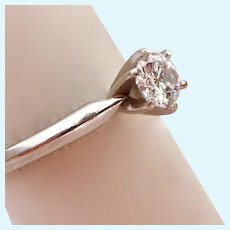 Platinum Diamond Solitaire Engagement Ring .5 Carats Estimated Weight