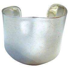 Sterling Silver 925 Wide Cuff Bracelet