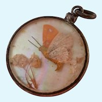 Sterling Silver 925 Butterfly Locket Pendant Double Sided