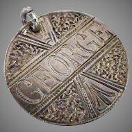 "Victorian Silver Coin Love Token Charm 1885 ""George"""