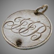 Victorian Silver Coin Love Token Charm