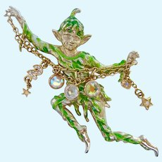 Kirks Folly Pixie Elf Year 2000 Millennium Brooch