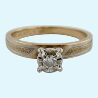 10K Gold Diamond Solitaire Ring--Nice Promise Ring