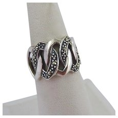 Sterling Silver 925 Marcasite Ring