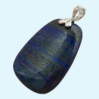 Large Blue Gemstone Pendant Enhancer Sterling Silver 925 Bail