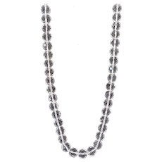 Huge Faceted Rock Crystal 16MM Bead Necklace