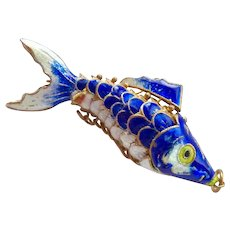Large Enamel Articulated Fish Pendant