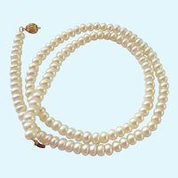 Freshwater Pearl Necklace with 14K Clasp