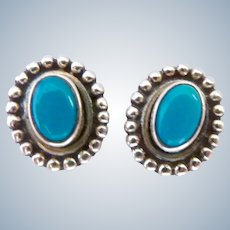 Nicky Butler Sterling Silver 925 Turquoise Post Earrings