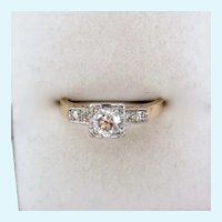 14K Gold Diamond Ring .48 Ct Estimated Total Gem Weight