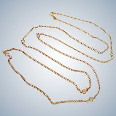 Crown Trifari Necklace with Clear Crystal Stations