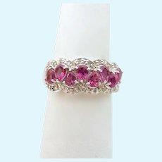 10K Gold Kunzite and Diamond Band Ring