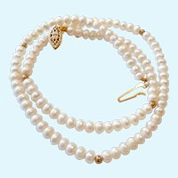 14K Gold Filled  & Cultured Pearl Necklace