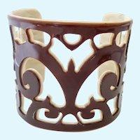 Wide Cut-Out Design Cuff Bracelet Thermoplastic