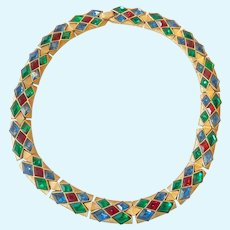 Trifari Jewels Of India Moghul Necklace Exceptional Condition
