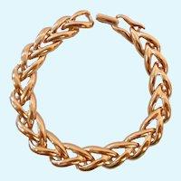 Signed Vintage Napier Gold Tone Bracelet