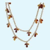 Fun Long Dangly Station Necklace Joan Rivers Over 41 Inches