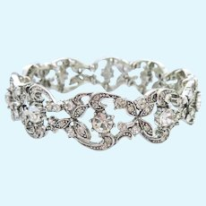 Joan Rivers Sparkly Stretch Bracelet Lacy Look