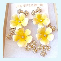 Jennifer Behr Vittoria Clip Earrings Spectacular Original Box Pouch Retail $725