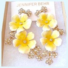 Jennifer Behr Vittoria Clip Earrings Spectacular Original Box Pouch Retail $725