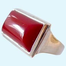 RLM Robert Lee Morris Sterling Silver 925 Ring Red Stone
