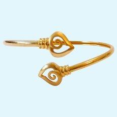 22K Gold Wrap Bracelet 10.7 Grams
