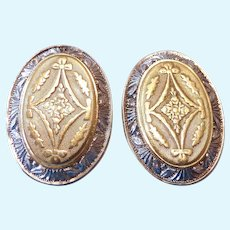 Elegant & Classic 14K Gold Earrings Two-Tone