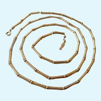 Vintage Napier Ball & Rod Gold Tone Necklace 31 Inches