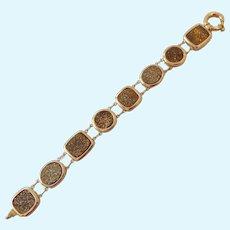 14K Gold & Druzy Bracelet 20.3 Grams