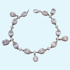 Sterling Silver 925 CZ Dangle Bracelet Epiphany